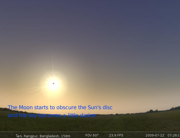 Stellarium solar eclipse script